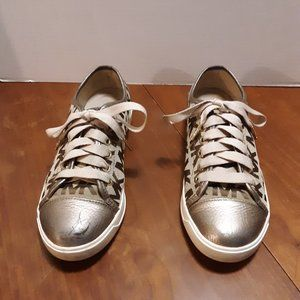 MK Michael Kors City Canvas & Leather Sneakers